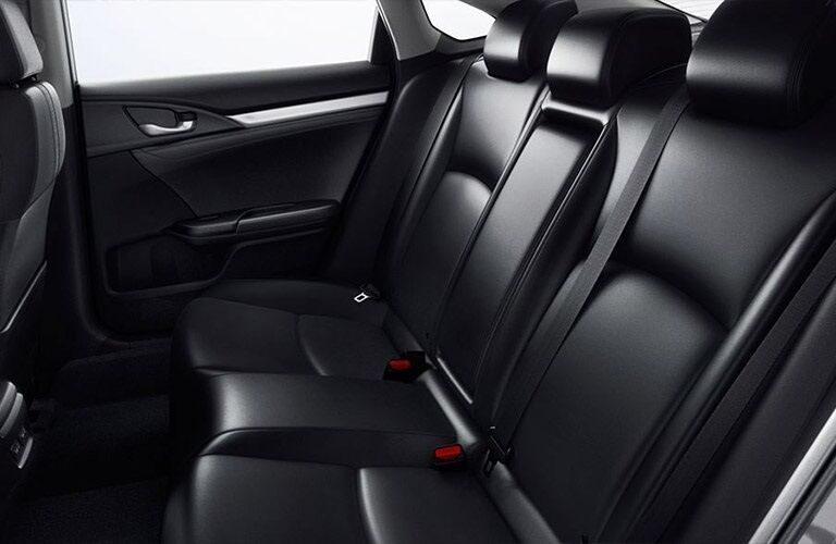 Rear seats in the 2019 Honda Civic