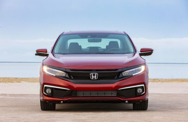 2021 Civic head-on front exterior