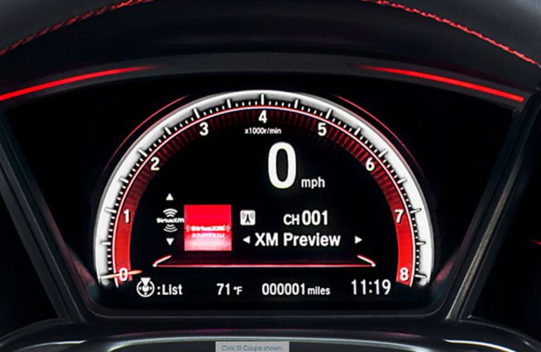 2019 Honda Civic Si Coupe driver information interface display