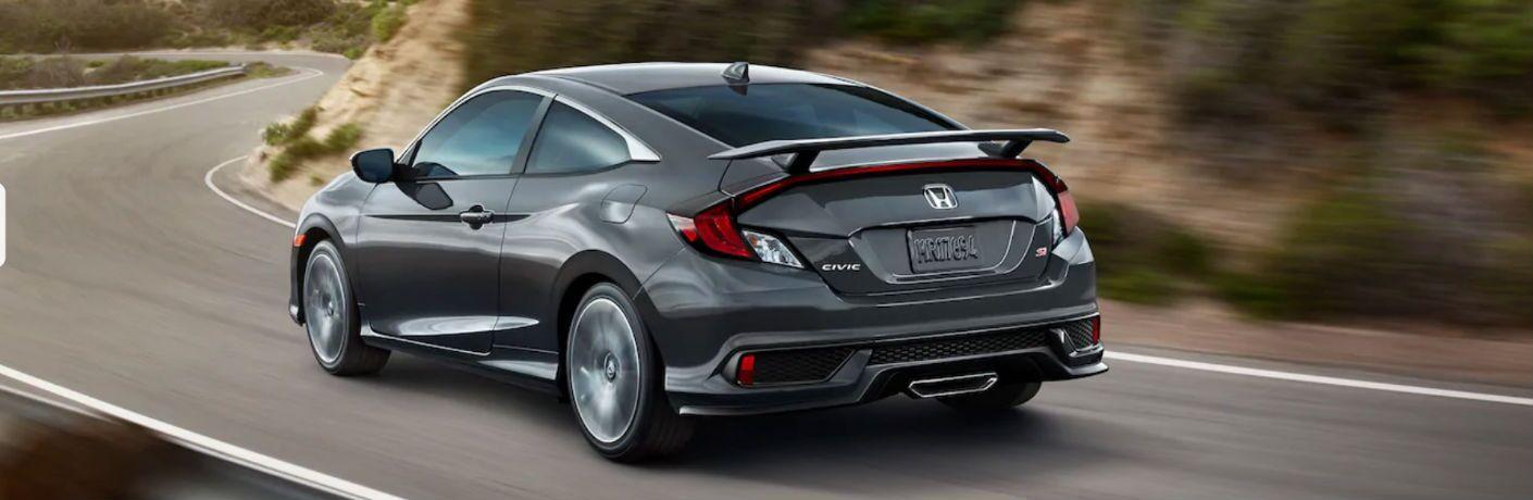 2019 Honda Civic Si Coupe driving on a road