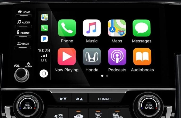 2019 Honda Civic Si infotainment system