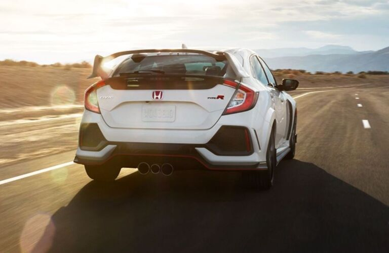 Rear view of a 2019 Honda Civic Type R