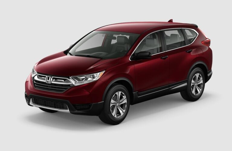 Red 2019 Honda CR-V on a gray background