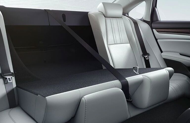 part of back seat folded for more cargo space in 2020 Honda Accord