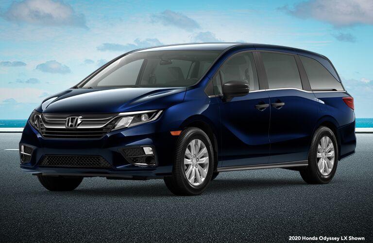 2020 Honda Odyssey LX blue front fascia driver side