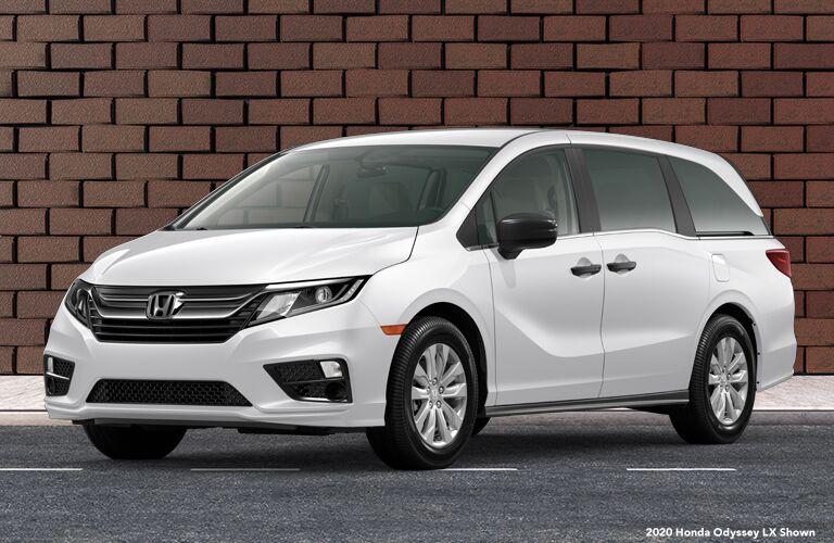 2020 Honda Odyssey LX white front fascia driver side