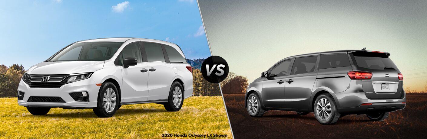 2020 Honda Odyssey LX vs 2020 Kia Sedona L