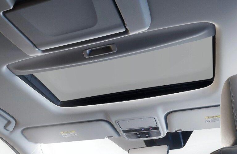 Moonroof inside the 2020 Honda Odyssey