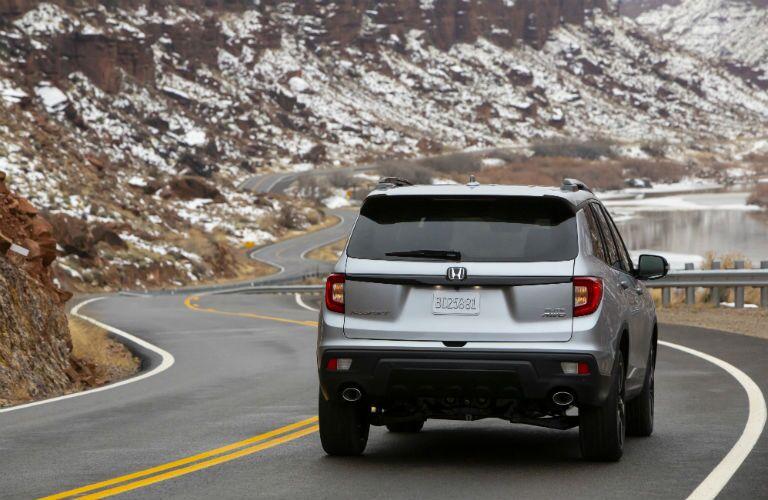 2020 Honda Passport silver exterior rear fascia driving