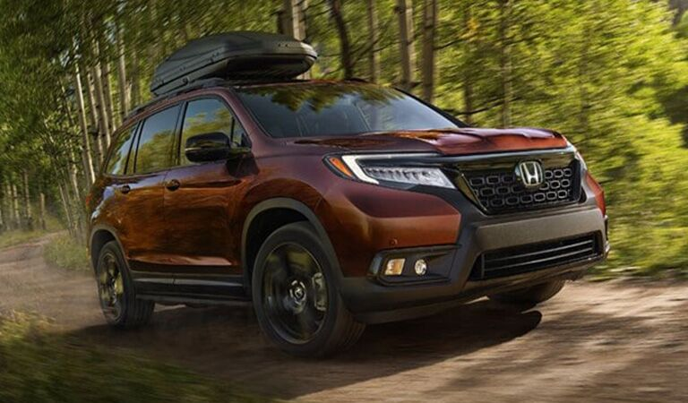 2019 Honda Passport driving on an off-road trail