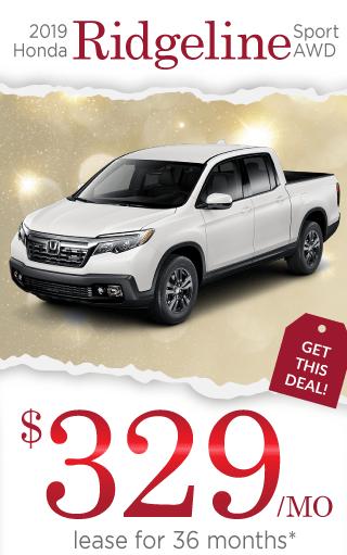 2019 Honda Ridgeline Offer