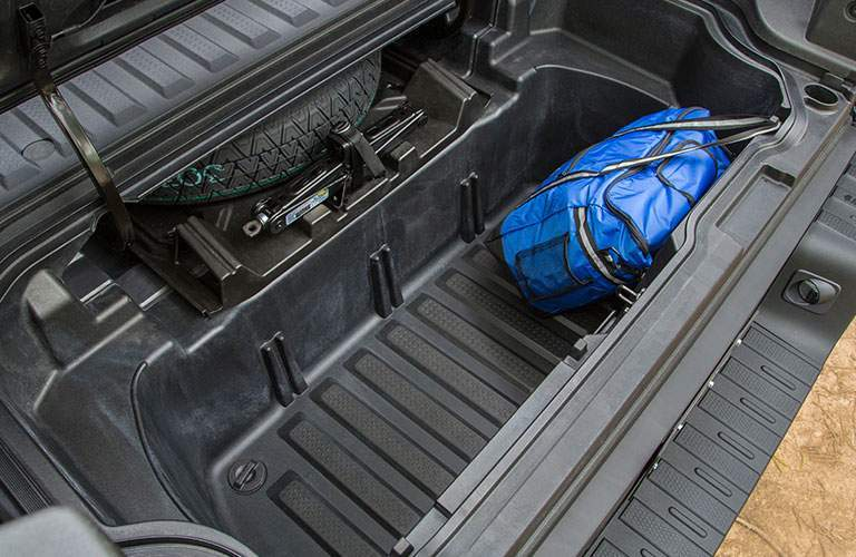 2018 Honda Ridgeline trunk with duffel bag
