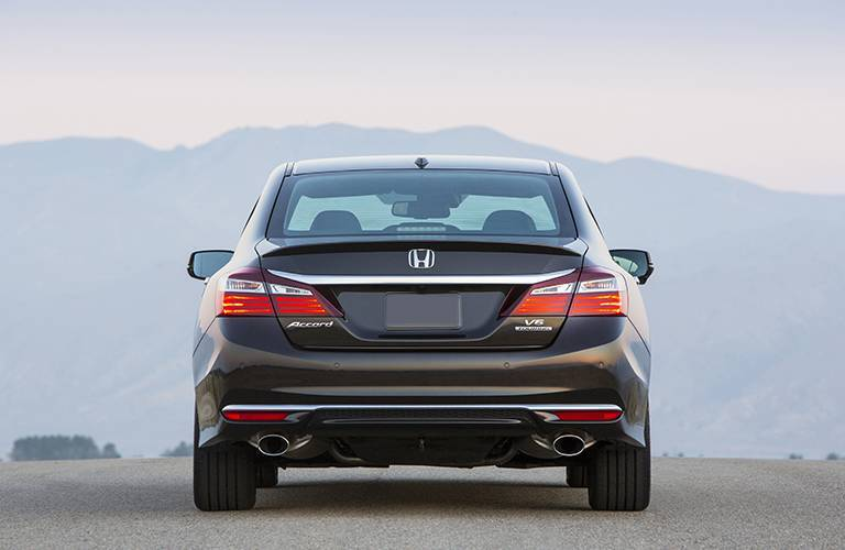 Rear end of 2016 Honda Accord Touring