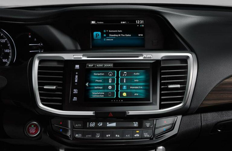 HondaLink infotainment system inside 2016 Honda Accord Touring