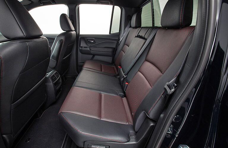 2017 Honda Ridgeline Black Edition Rear Seats