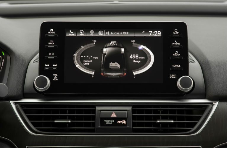 2018 Honda Accord Hybrid Display Audio Touch-Screen showing the hybrid system