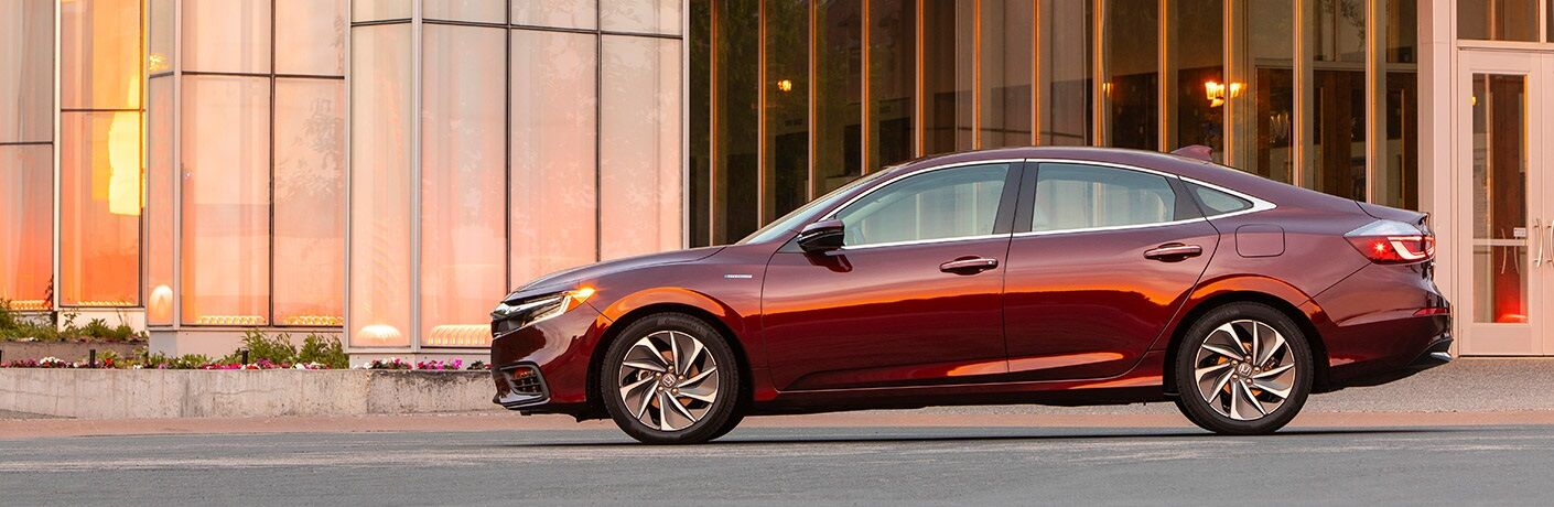 Side view of a 2019 Honda Insight at sunset
