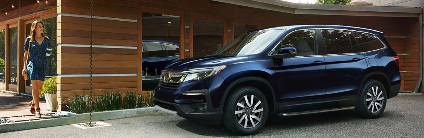 2019 Honda Pilot parked in a driveway