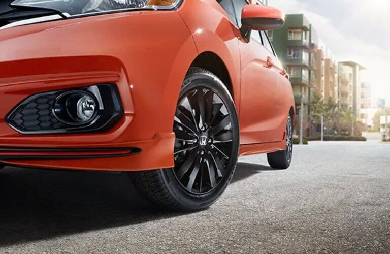 Closeup of wheel on 2020 Honda Fit