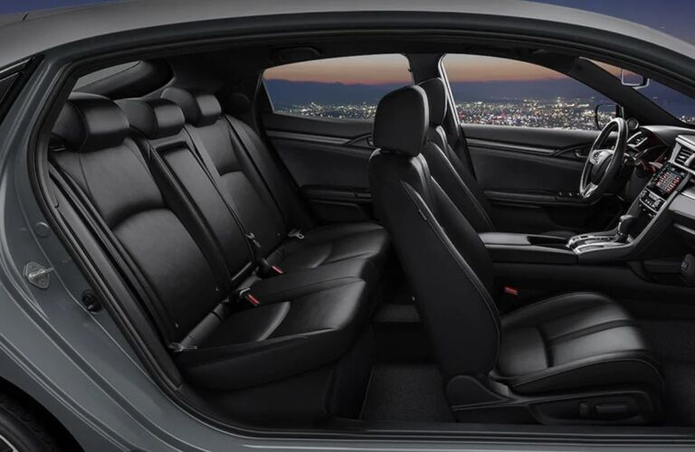 Interior seating in the 2020 Honda Civic Hatchback