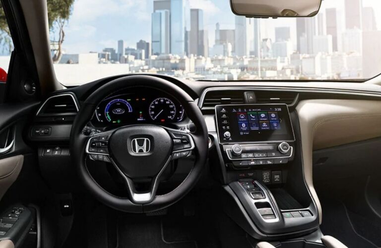 Cockpit view in the 2020 Honda Insight