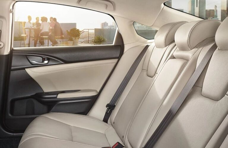 Rear seats in the 2020 Honda Insight