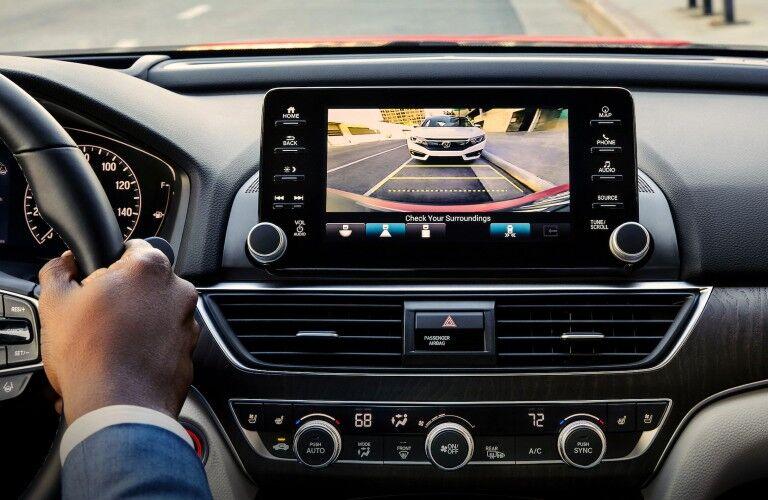 Rearview camera inside the 2021 Honda Accord