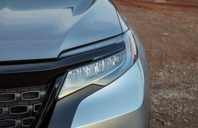 2021 Honda Passport close up on front headlight
