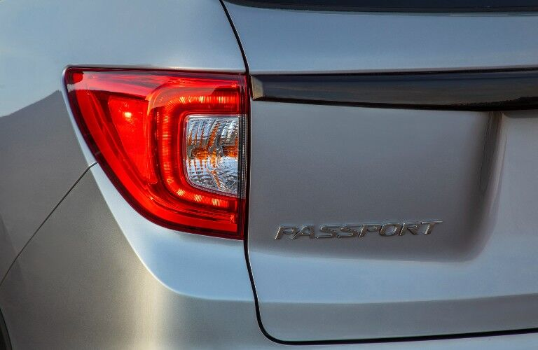 2021 Honda Passport logo on back of vehicle