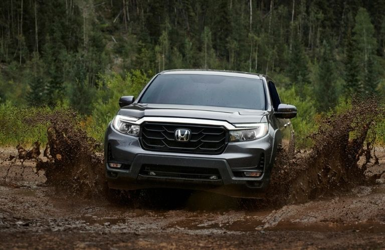 2021 Honda Ridgeline in the mud