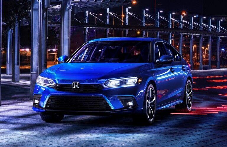 2022 Honda Civic Touring blue front view