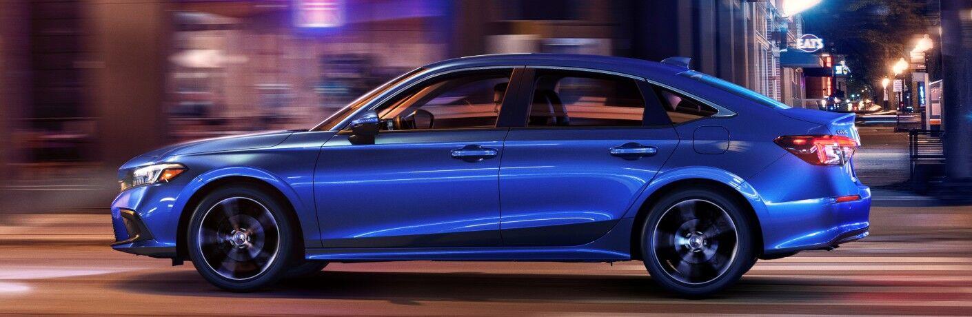 2022 Honda Civic Touring blue side view