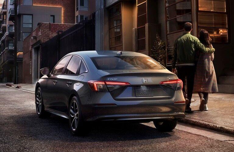 2022 Honda Civic Touring gray back view