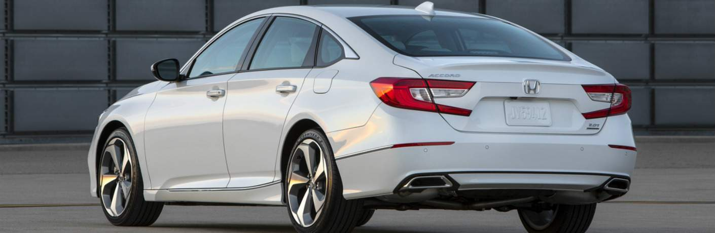rear left side view of a white 2018 Honda Accord