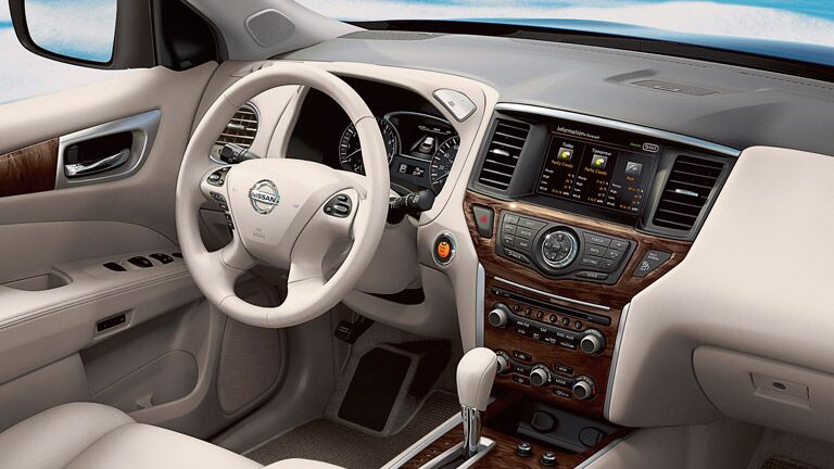 pale and lovely interior of the 2015 Nissan Pathfinder