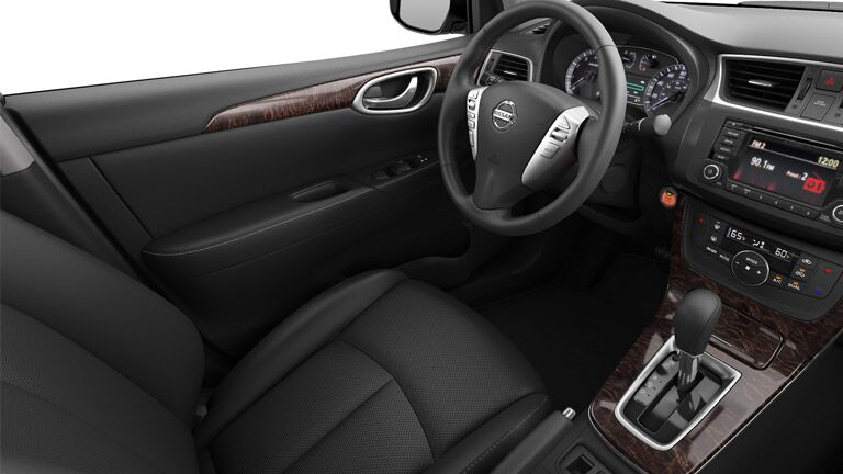 SL cabin of the 2015 Nissan Sentra