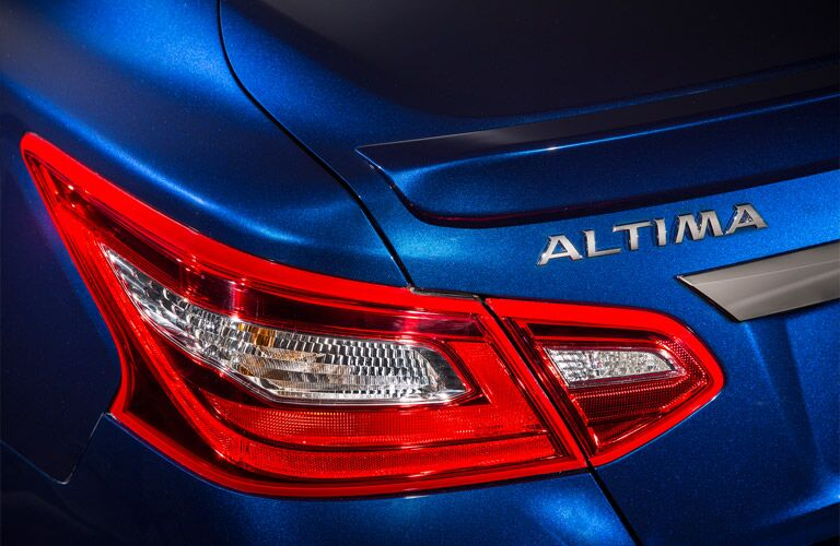2016 Nissan Altima taillight and branding