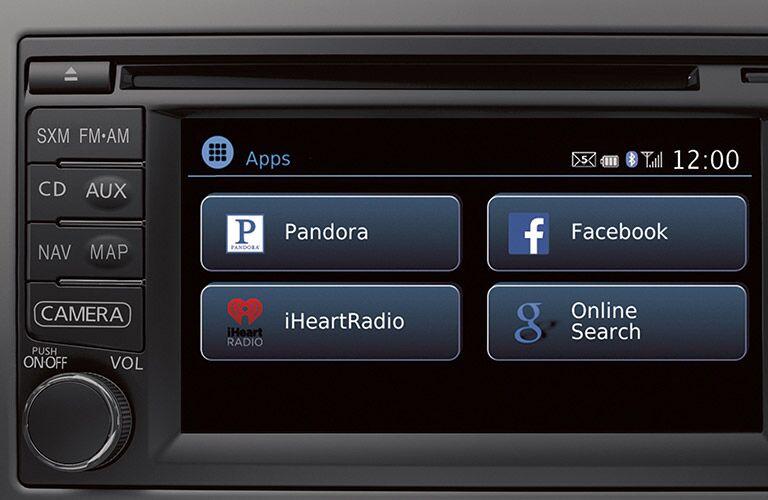 2017 Nissan Versa interior infotainment system