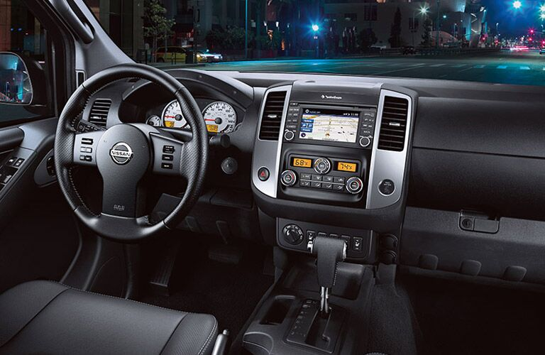 2016 Nissan Frontier dashboard view