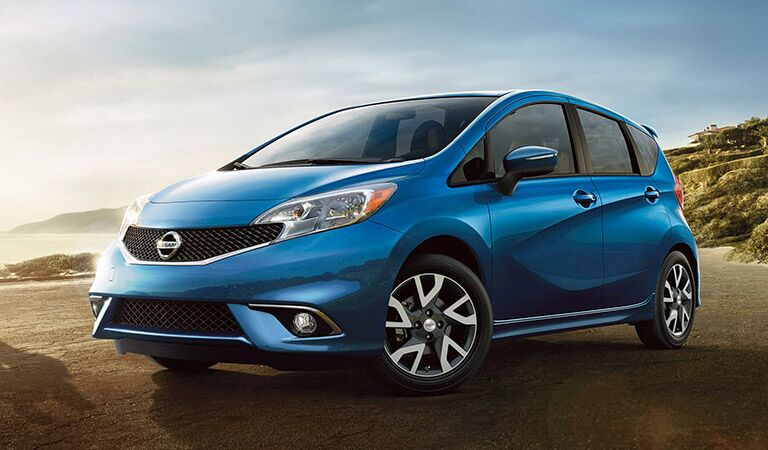 Nissan Versa Note hatchback in blue