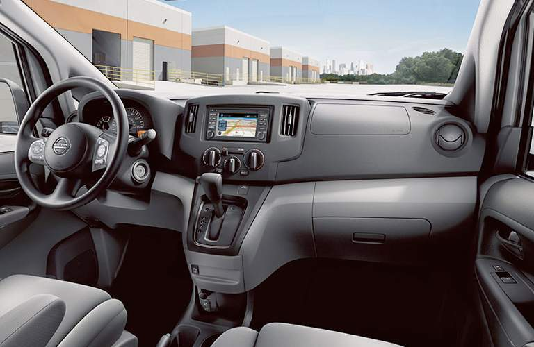 2017 Nissan NV200 SV interior with 5.8 in touch screen