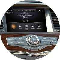 center entertainment and command screen inside 2018 Nissan Armada