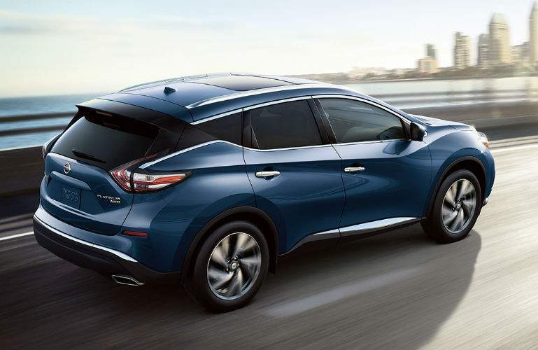 2018 Nissan Murano driving into the city