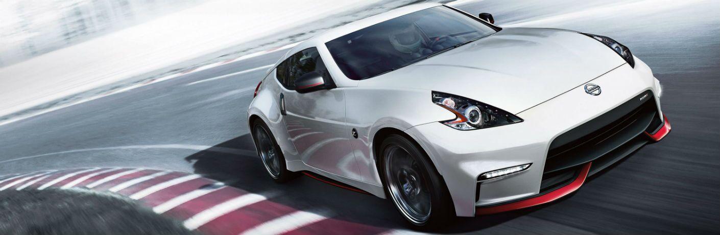 2020 Nissan 370Z Exterior Passenger Side Front Profile on Track