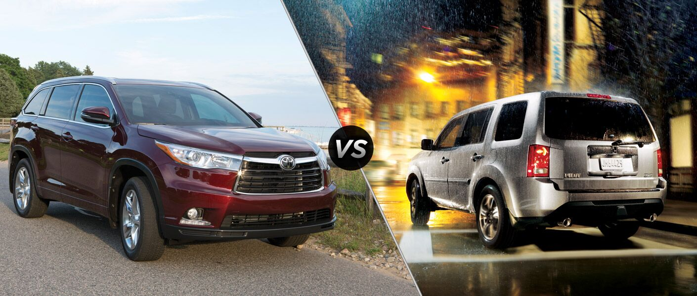 Pilot Vs Highlander >> 2015 Toyota Highlander Vs 2015 Honda Pilot