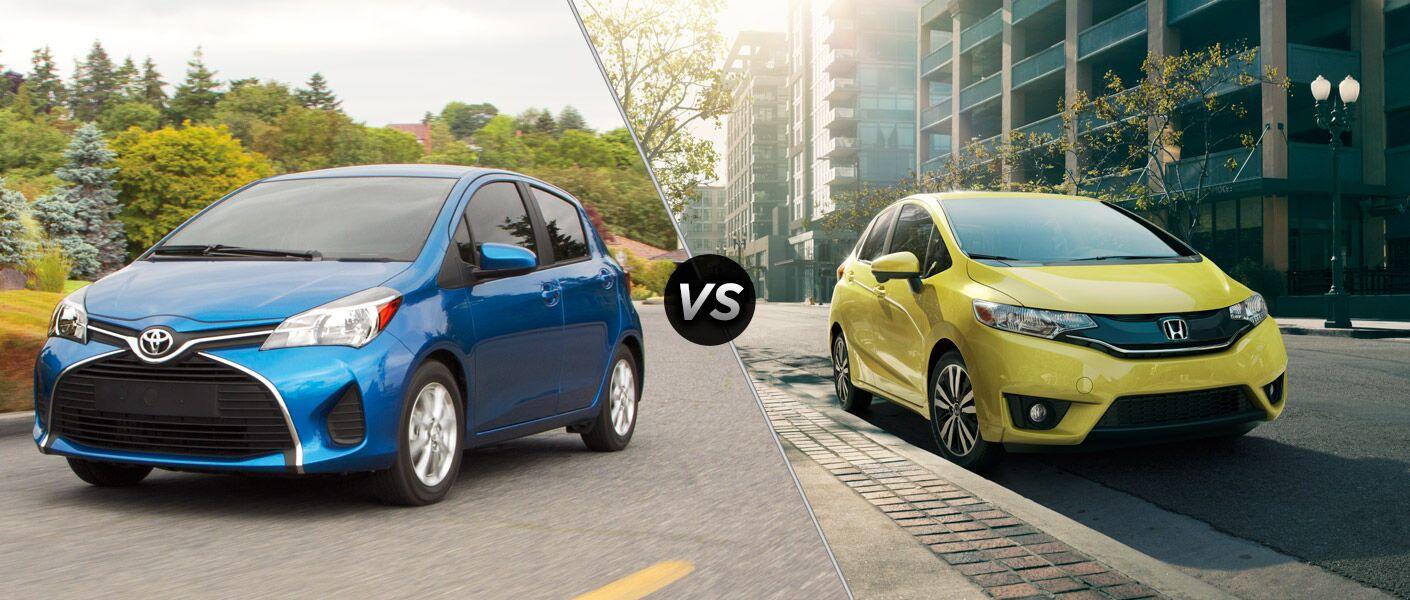 2015 Toyota Yaris vs 2015 Honda Fit