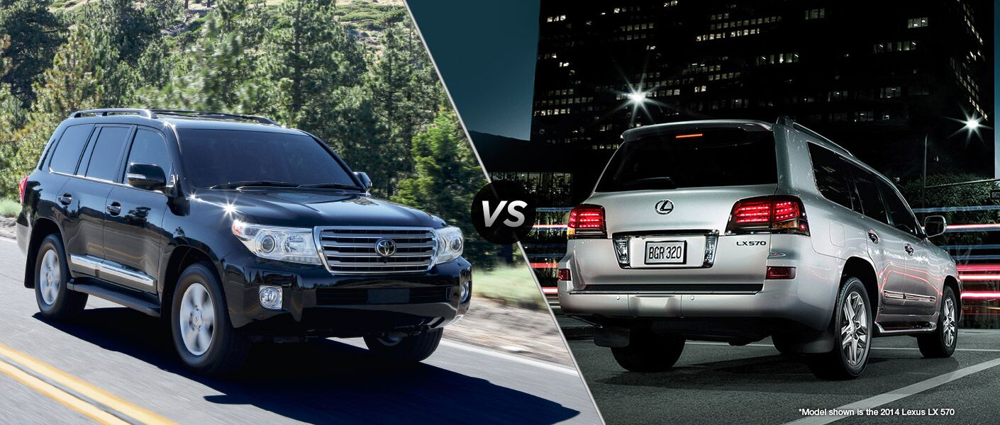 2015 toyota land cruiser vs 2015 lexus lx 570. Black Bedroom Furniture Sets. Home Design Ideas