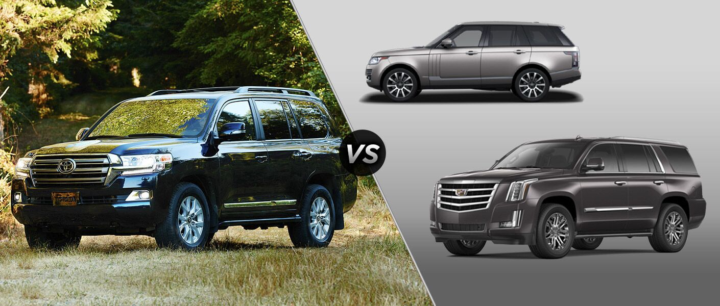 2016 Toyota Land Cruiser vs. 2016 Land Rover Range Rover vs. 2016 Cadillac Escalade fullsize SUVs cargo 8,500 pounds towing Tuscaloosa Toyota AL