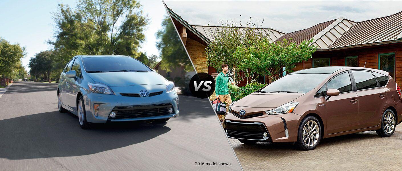 2016 Toyota Prius vs 2016 Toyota Prius v