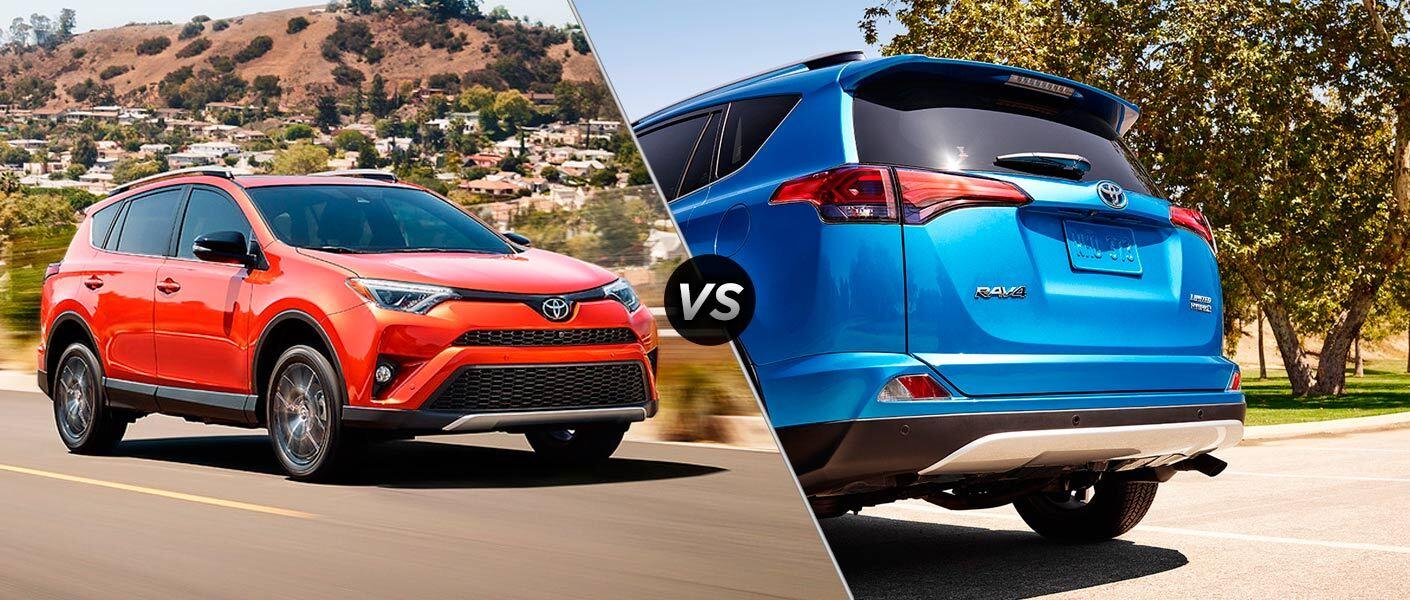 2016 Toyota RAV4 vs 2016 Toyota RAV4 Hybrid small SUV crossover